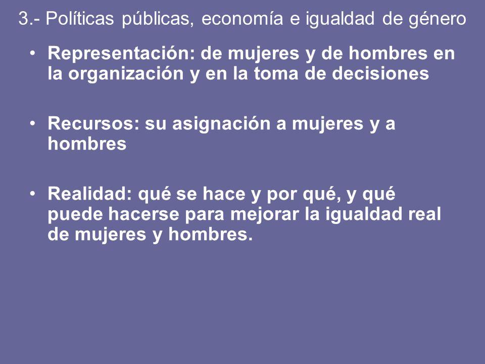 3.- Políticas públicas, economía e igualdad de género