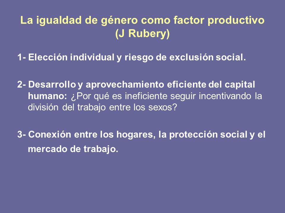 La igualdad de género como factor productivo (J Rubery)