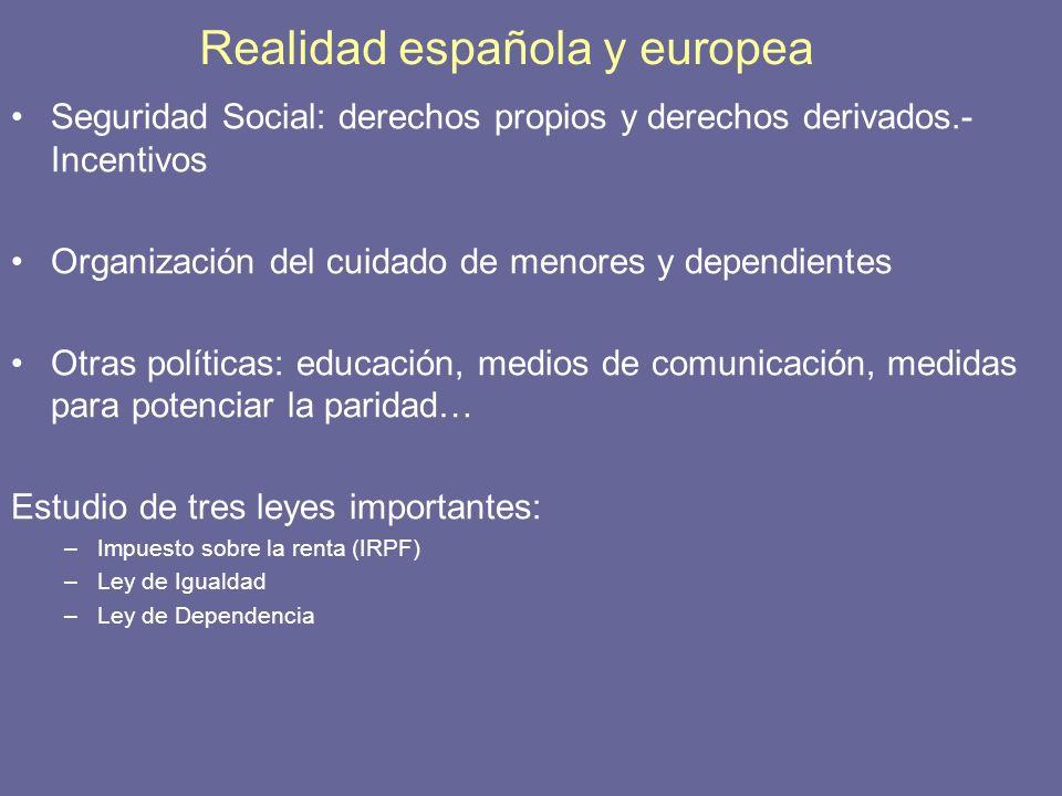 Realidad española y europea