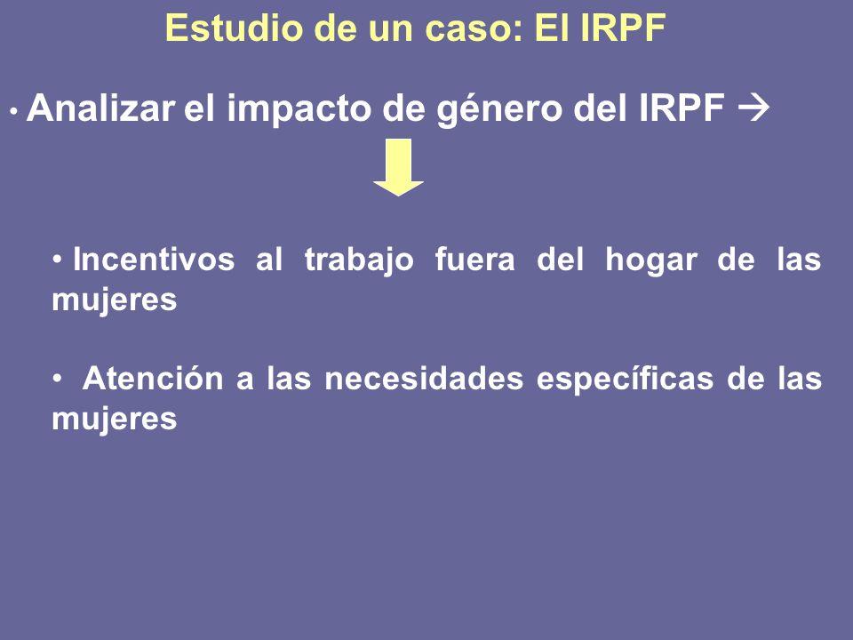 Estudio de un caso: El IRPF