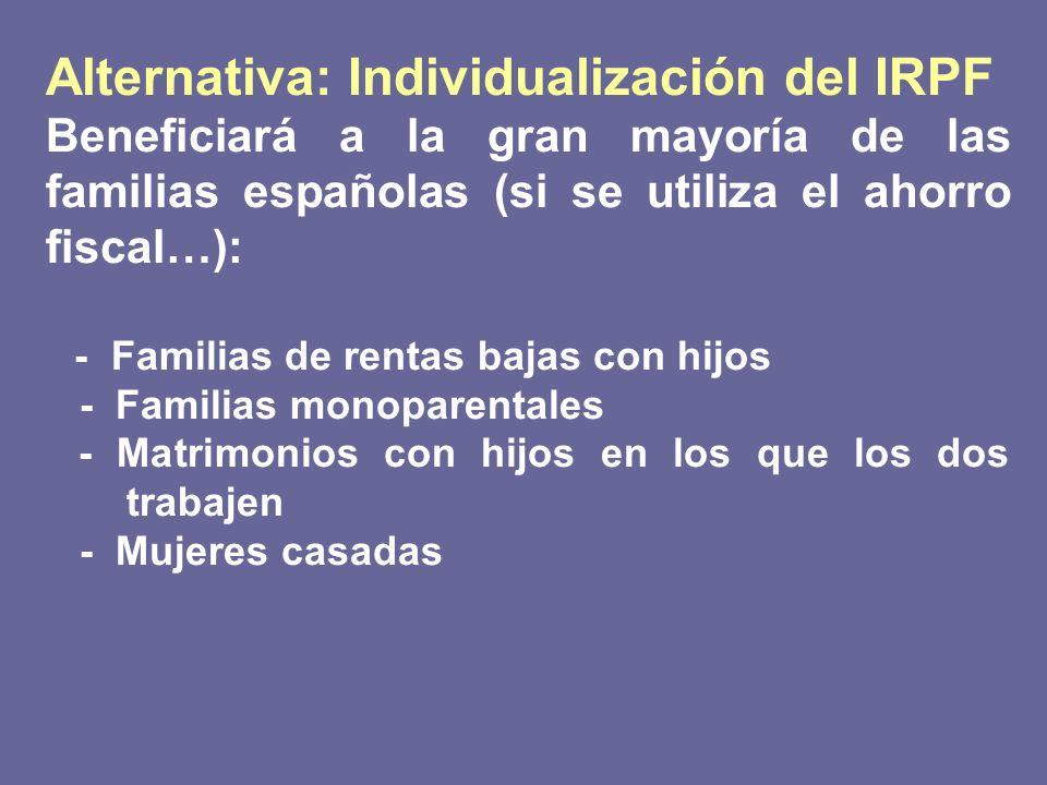 Alternativa: Individualización del IRPF