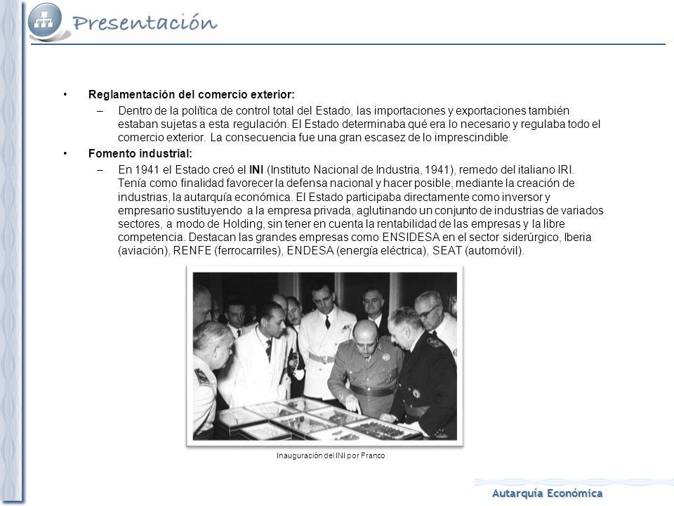 Inauguración del INI por Franco