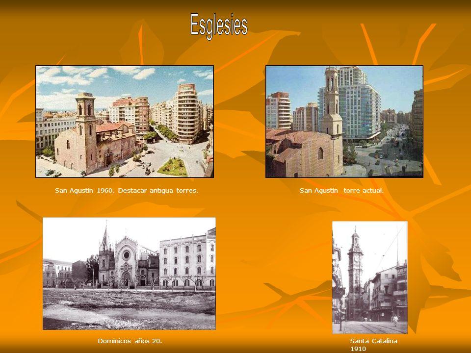 Esglesies San Agustín 1960. Destacar antigua torres.