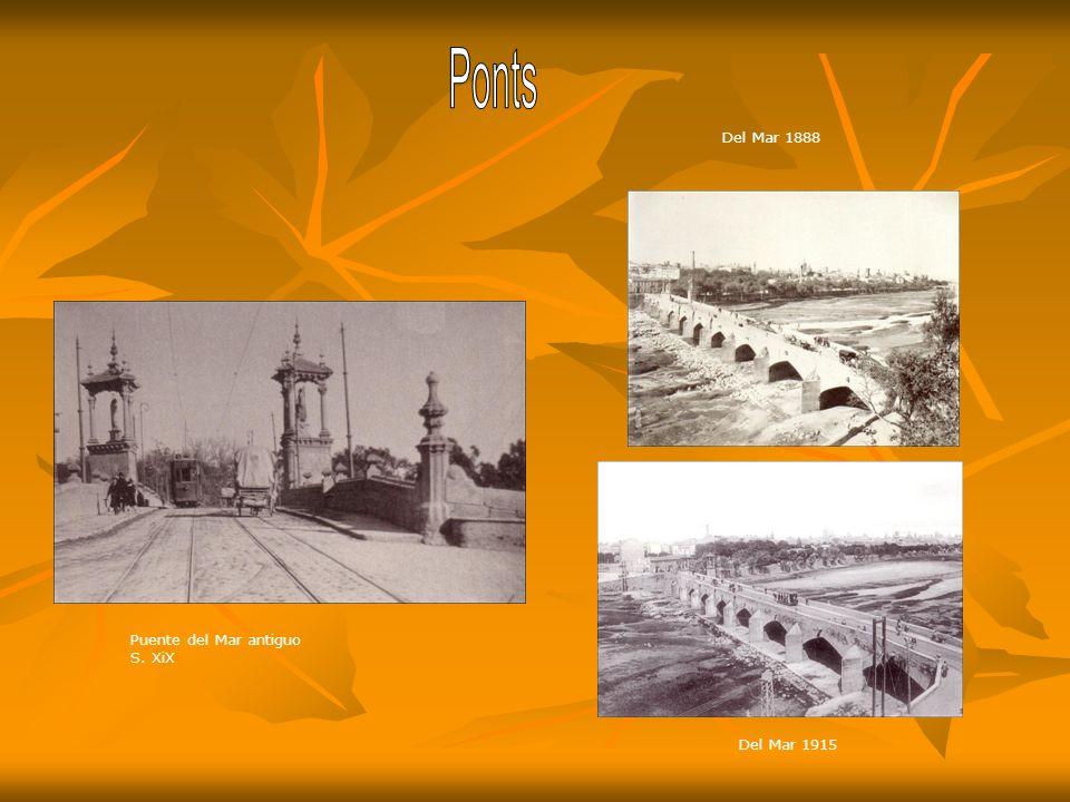 Ponts Del Mar 1888 Puente del Mar antiguo S. XiX Del Mar 1915
