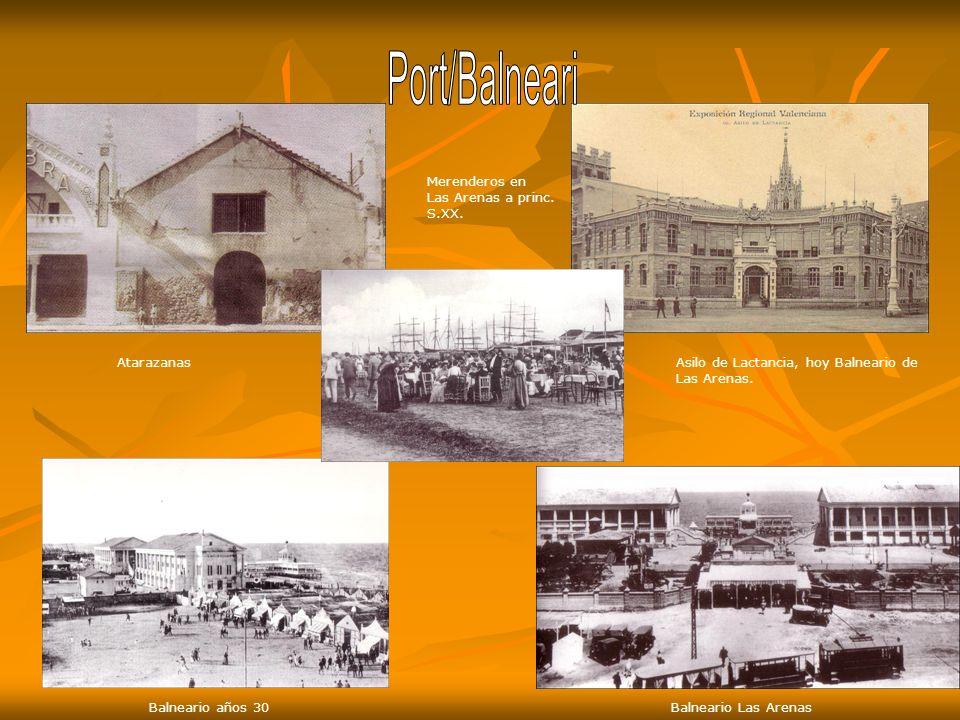Port/Balneari Merenderos en Las Arenas a princ. S.XX. Atarazanas