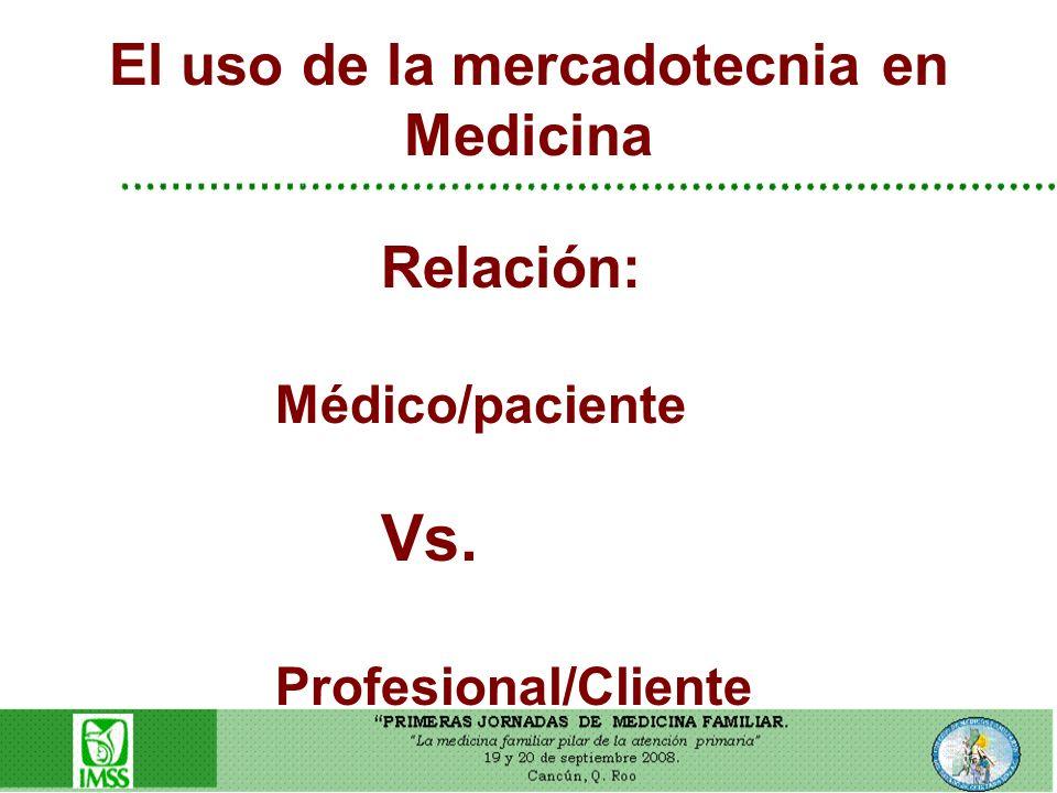 El uso de la mercadotecnia en Medicina
