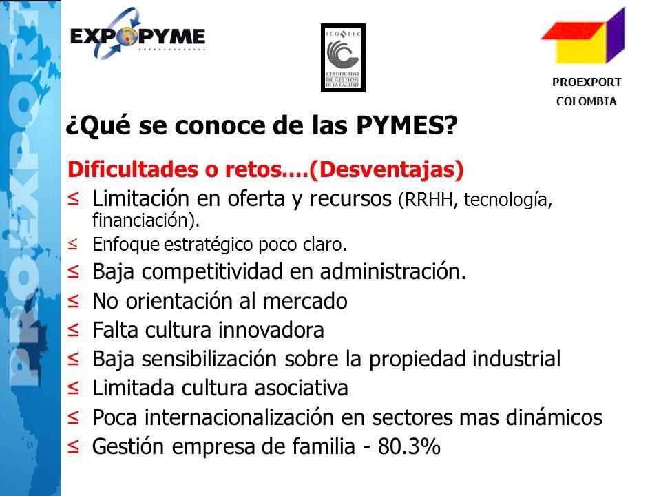 ¿Qué se conoce de las PYMES