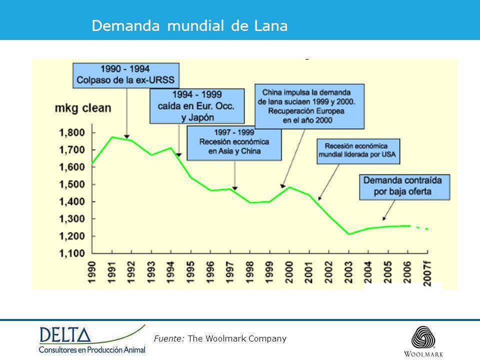 Demanda mundial de Lana