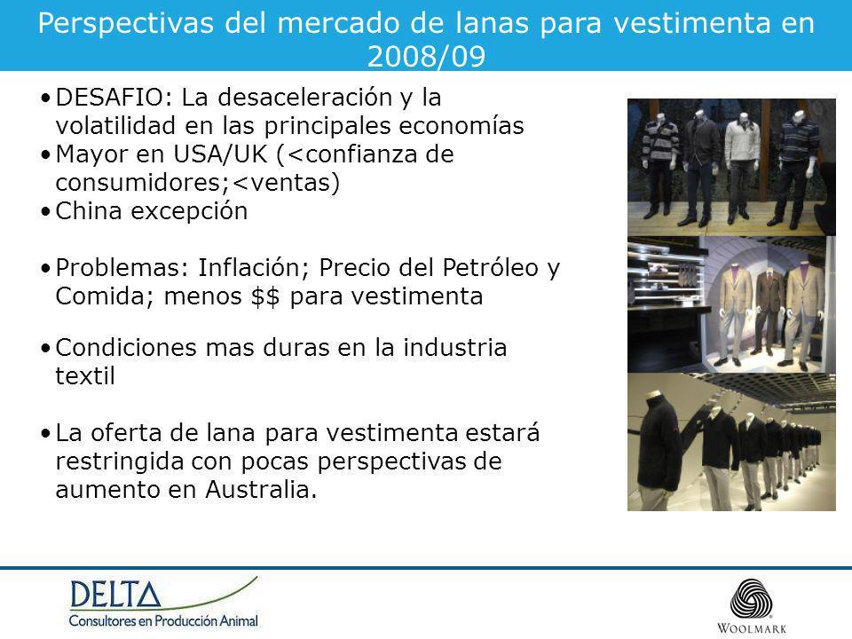 Perspectivas del mercado de lanas para vestimenta en 2008/09