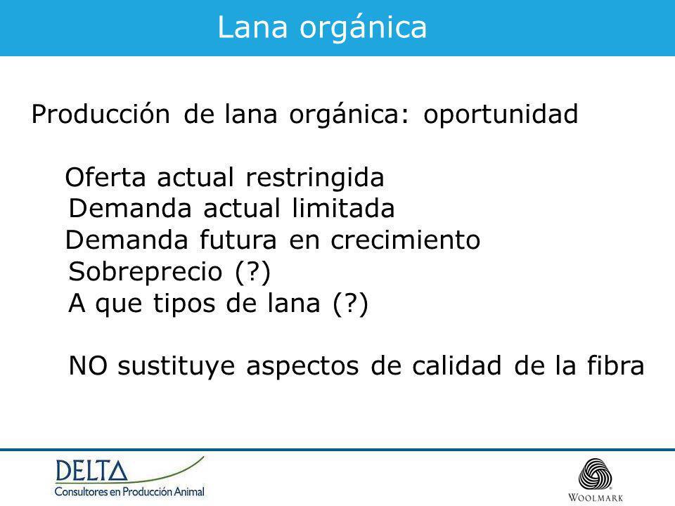Lana orgánica Producción de lana orgánica: oportunidad