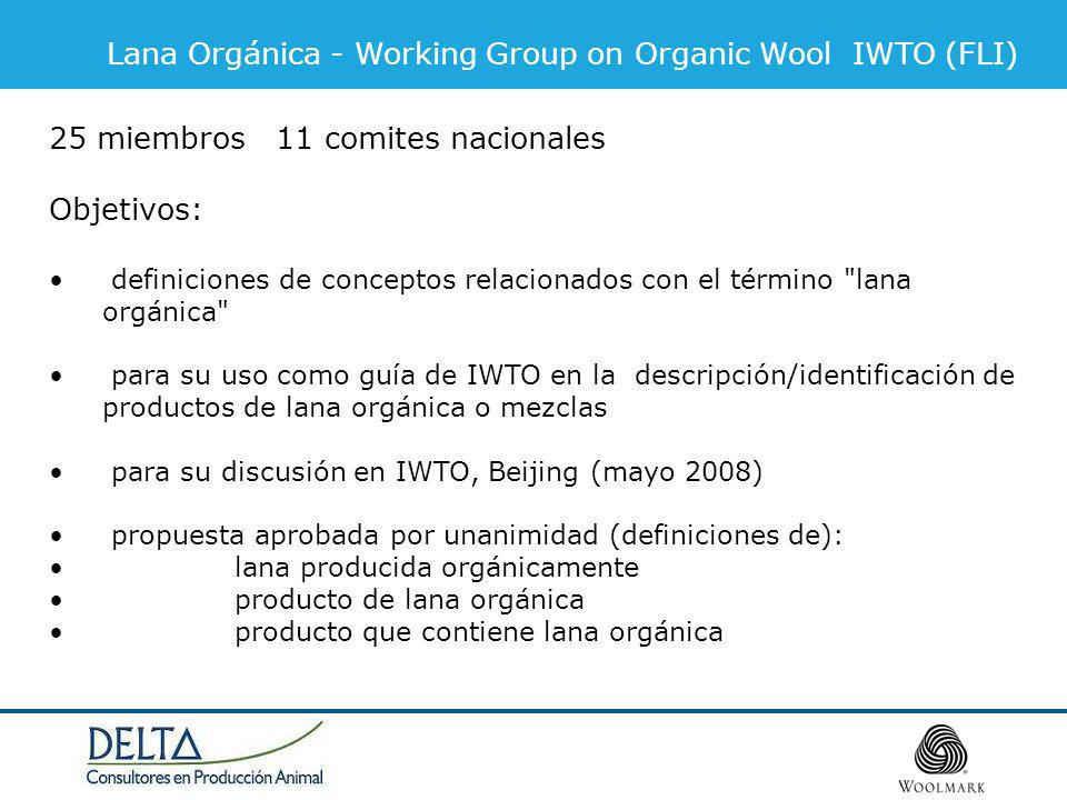 Lana Orgánica - Working Group on Organic Wool IWTO (FLI)