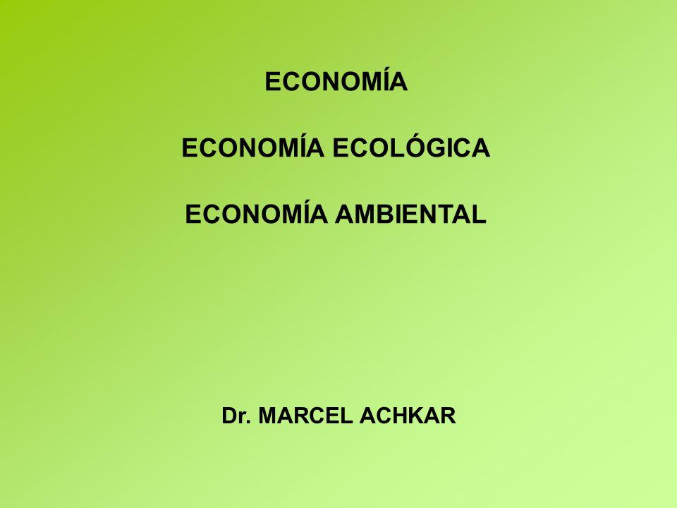 ECONOMÍA ECONOMÍA ECOLÓGICA ECONOMÍA AMBIENTAL