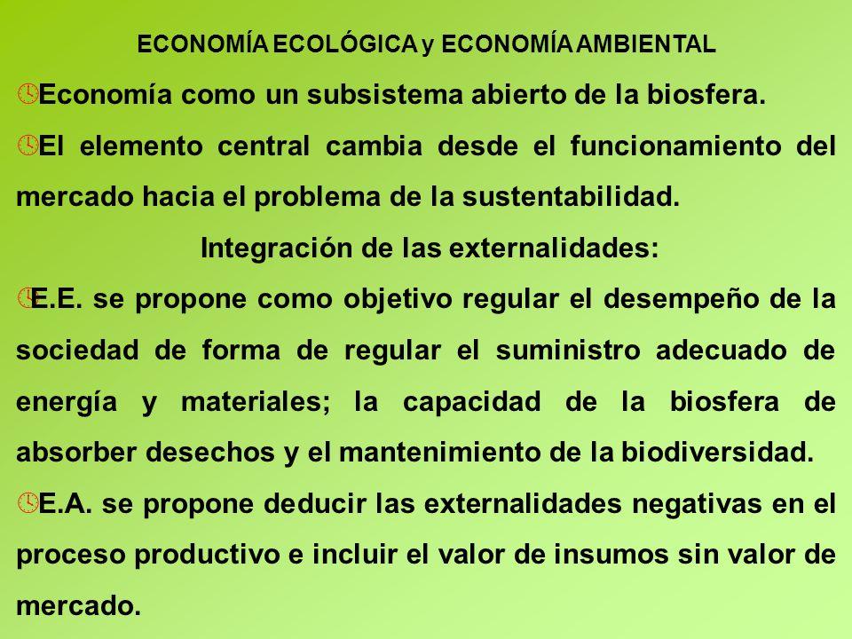 Integración de las externalidades: