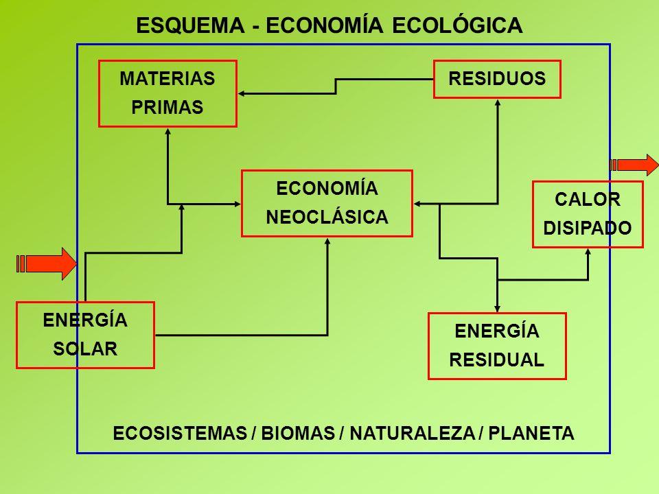 ESQUEMA - ECONOMÍA ECOLÓGICA