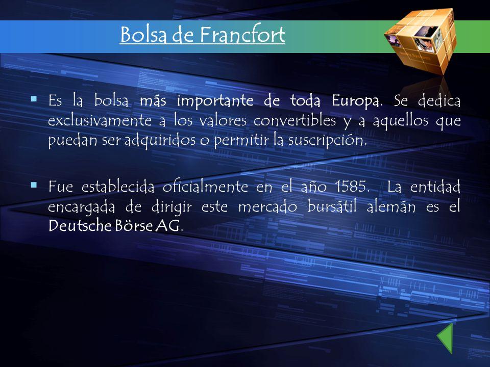 Bolsa de Francfort