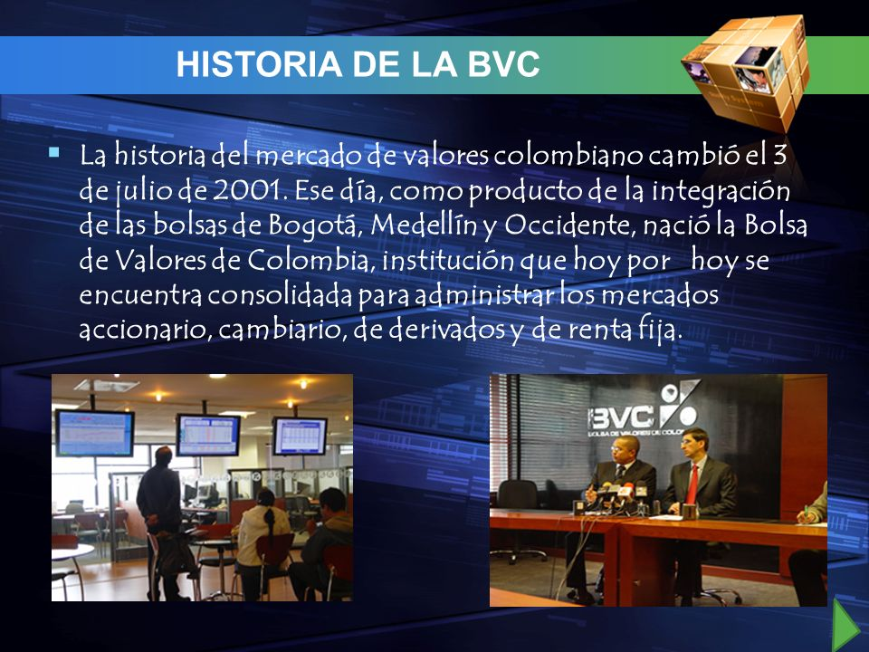 HISTORIA DE LA BVC