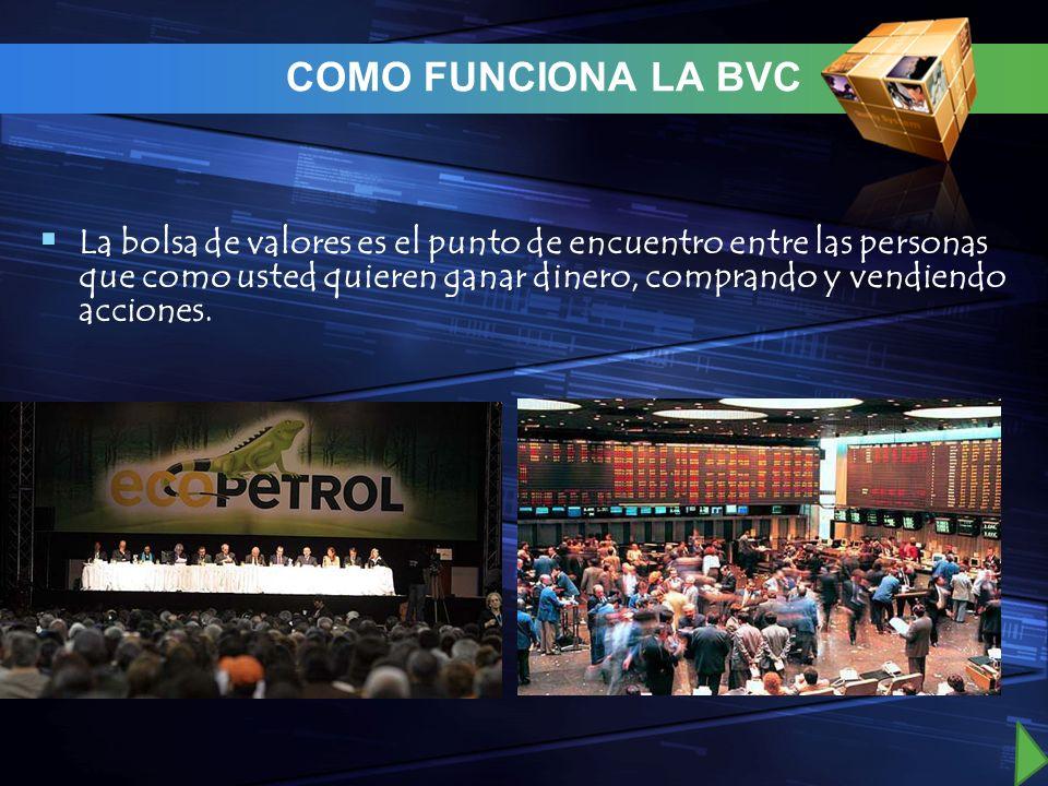COMO FUNCIONA LA BVC