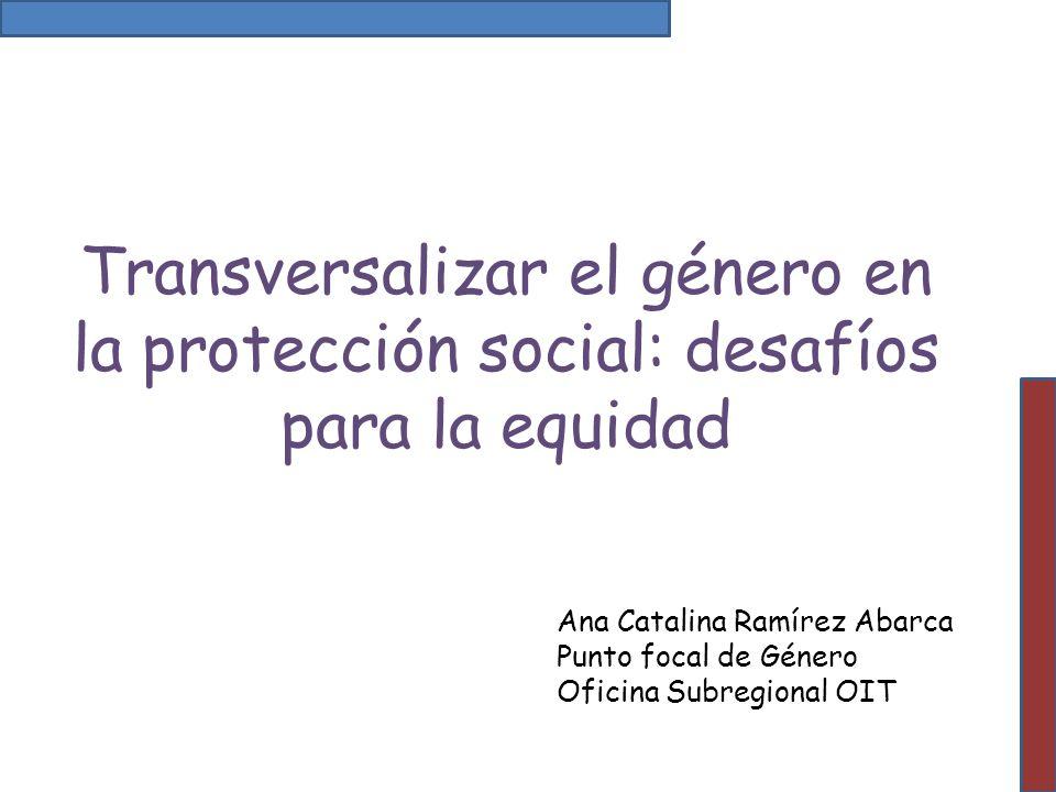 Transversalizar el género en la protección social: desafíos para la equidad