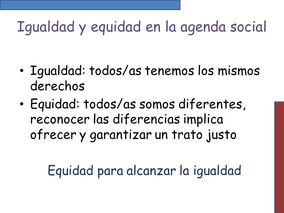 Igualdad y equidad en la agenda social