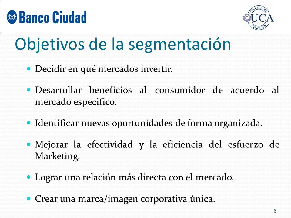 Objetivos de la segmentación