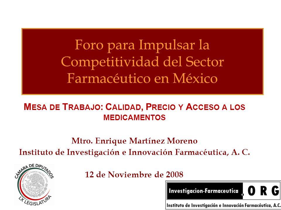 Foro para Impulsar la Competitividad del Sector Farmacéutico en México
