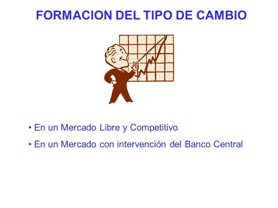 FORMACION DEL TIPO DE CAMBIO