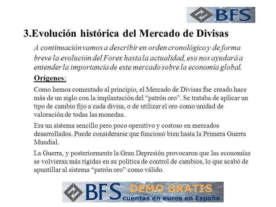 3.Evolución histórica del Mercado de Divisas