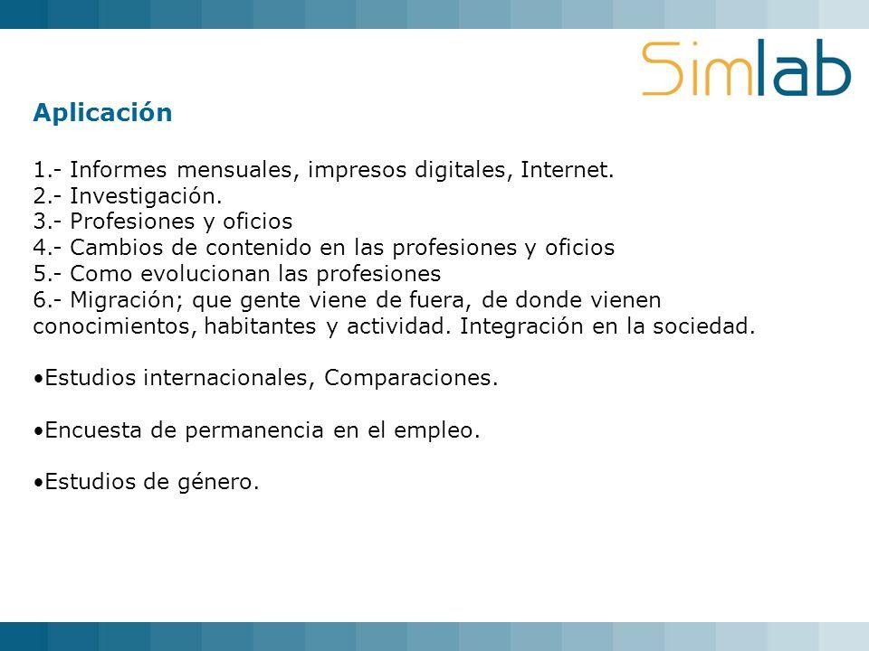 Aplicación 1.- Informes mensuales, impresos digitales, Internet.