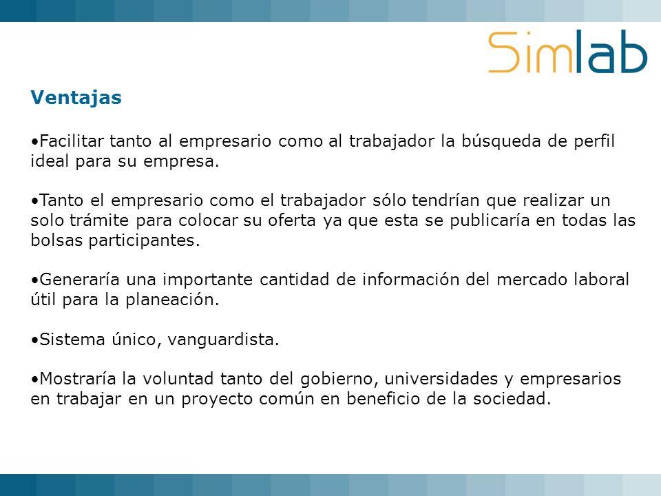 29/03/2017 Ventajas. Facilitar tanto al empresario como al trabajador la búsqueda de perfil ideal para su empresa.