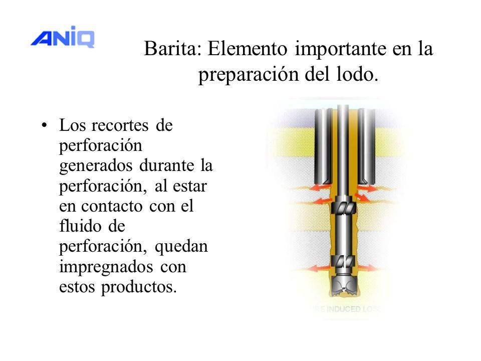 Barita: Elemento importante en la preparación del lodo.