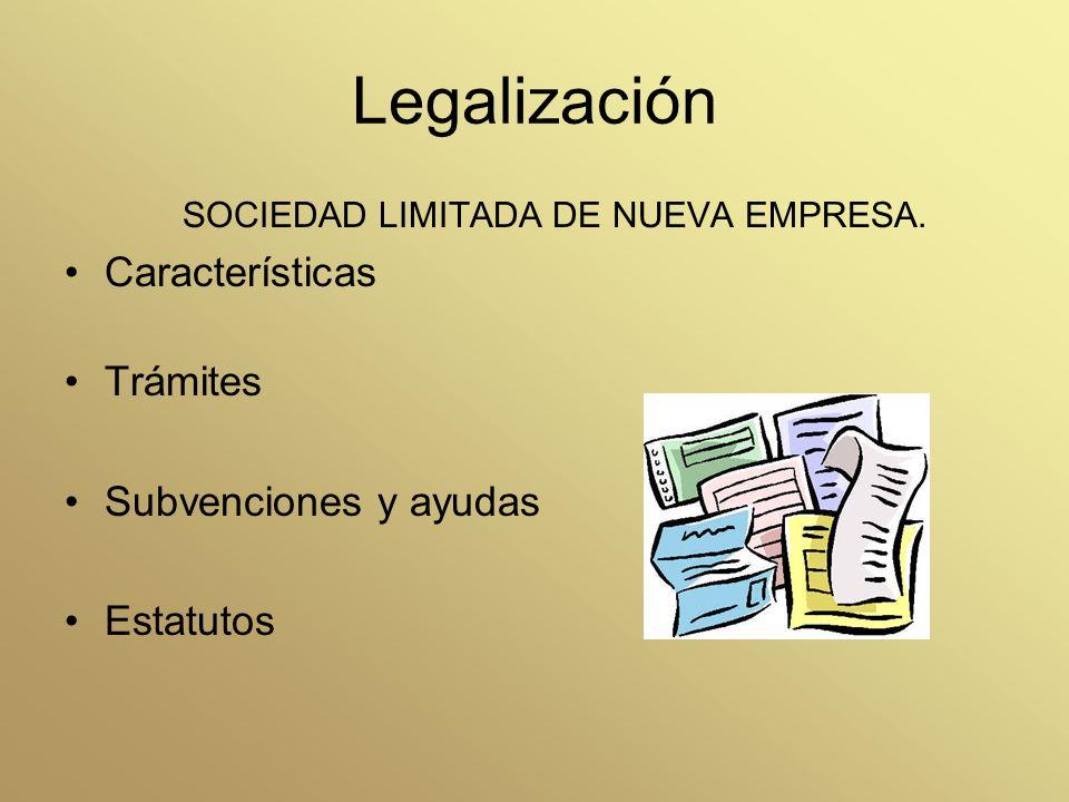 Legalización Características Trámites Subvenciones y ayudas Estatutos