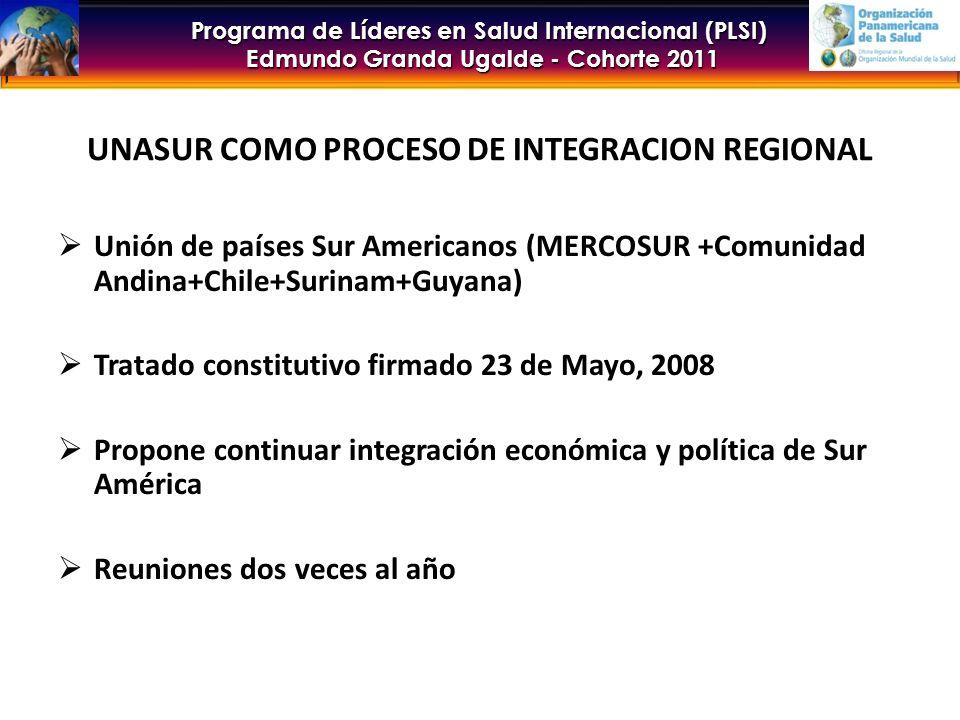UNASUR COMO PROCESO DE INTEGRACION REGIONAL
