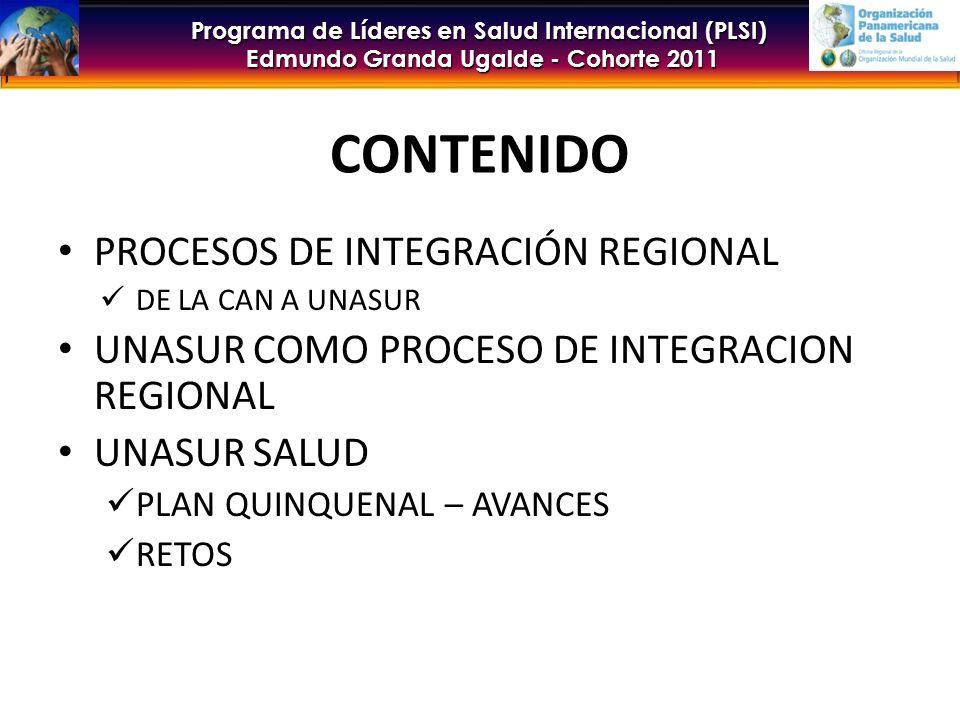 CONTENIDO PROCESOS DE INTEGRACIÓN REGIONAL