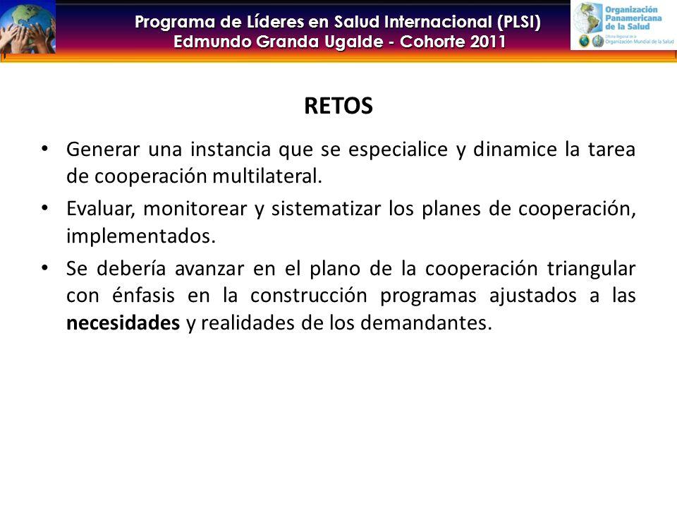 RETOS Generar una instancia que se especialice y dinamice la tarea de cooperación multilateral.