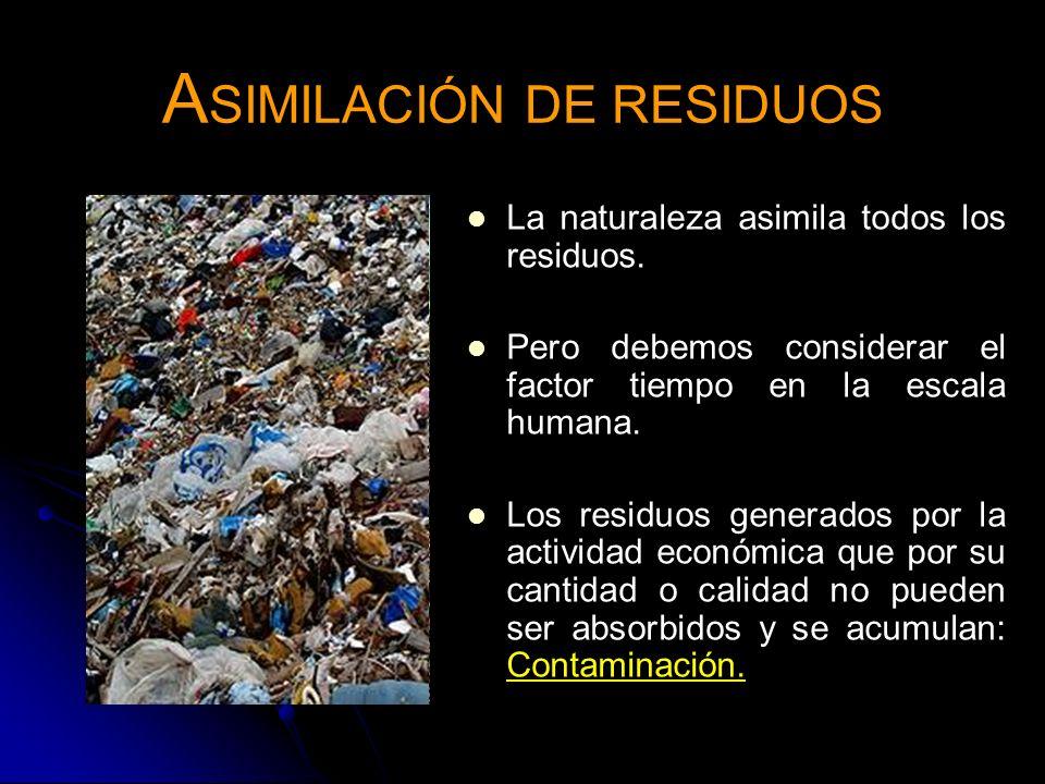 ASIMILACIÓN DE RESIDUOS