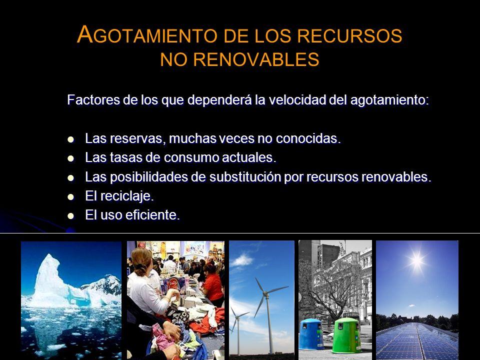 AGOTAMIENTO DE LOS RECURSOS NO RENOVABLES