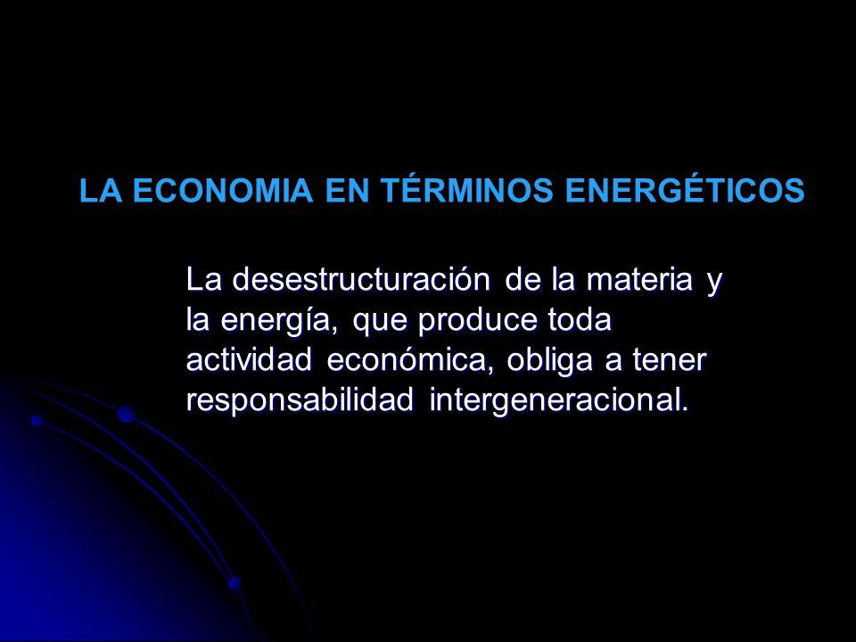 LA ECONOMIA EN TÉRMINOS ENERGÉTICOS