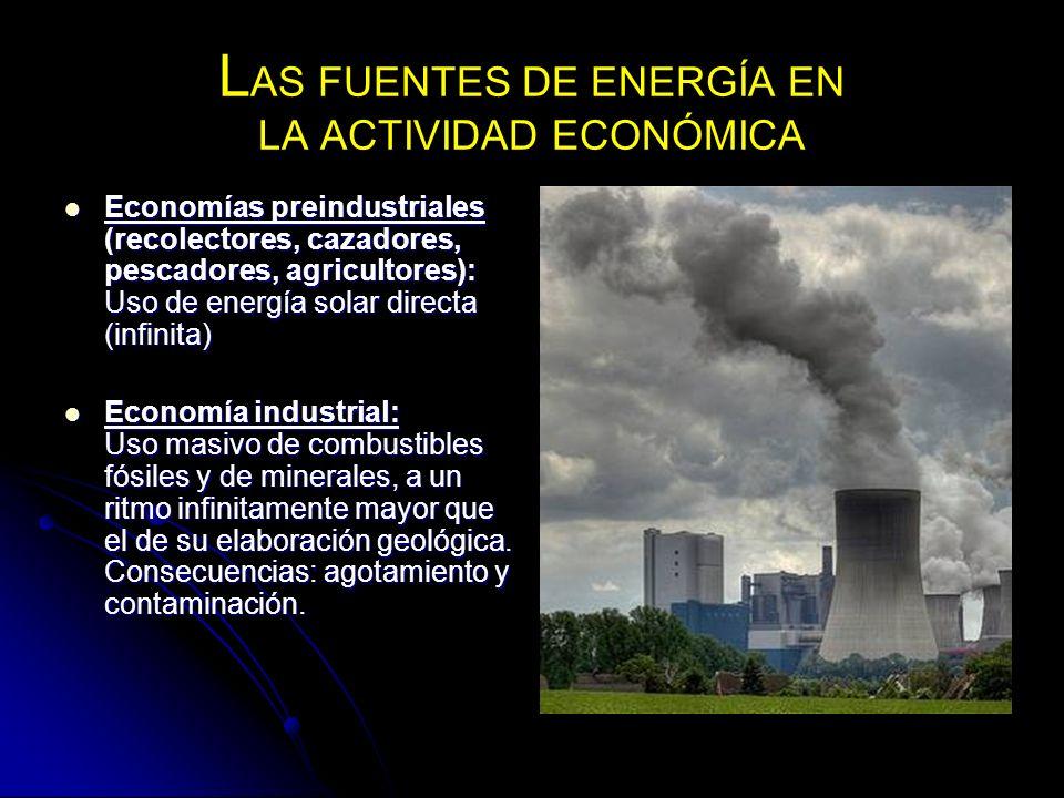 LAS FUENTES DE ENERGÍA EN LA ACTIVIDAD ECONÓMICA