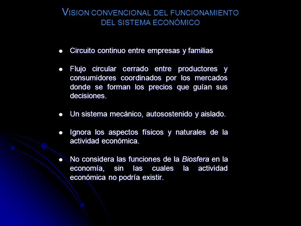 VISION CONVENCIONAL DEL FUNCIONAMIENTO DEL SISTEMA ECONÓMICO