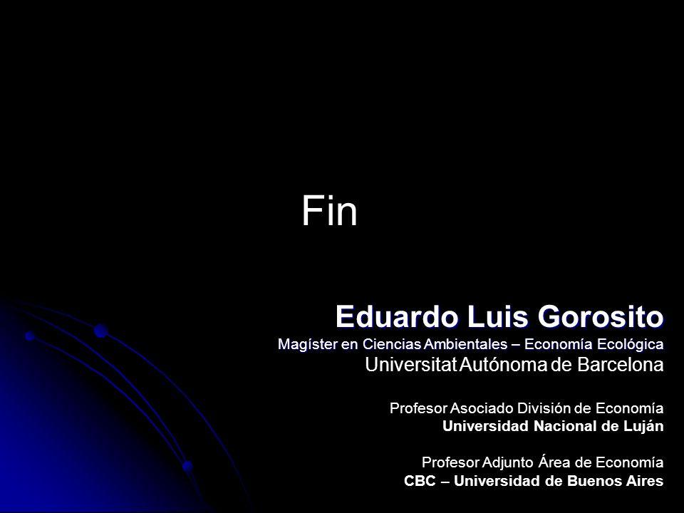 Fin Eduardo Luis Gorosito Universitat Autónoma de Barcelona