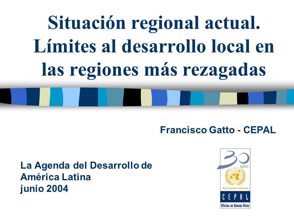 Situación regional actual