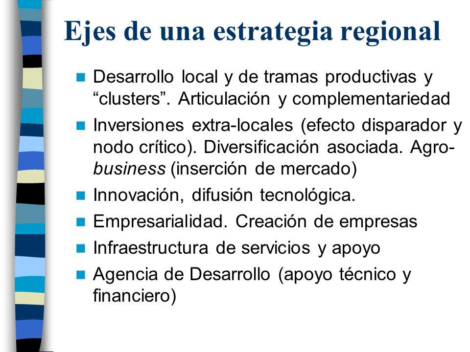 Ejes de una estrategia regional