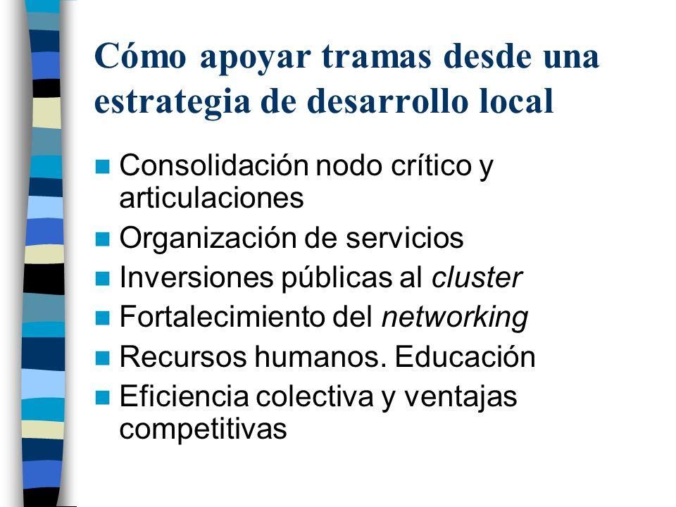 Cómo apoyar tramas desde una estrategia de desarrollo local