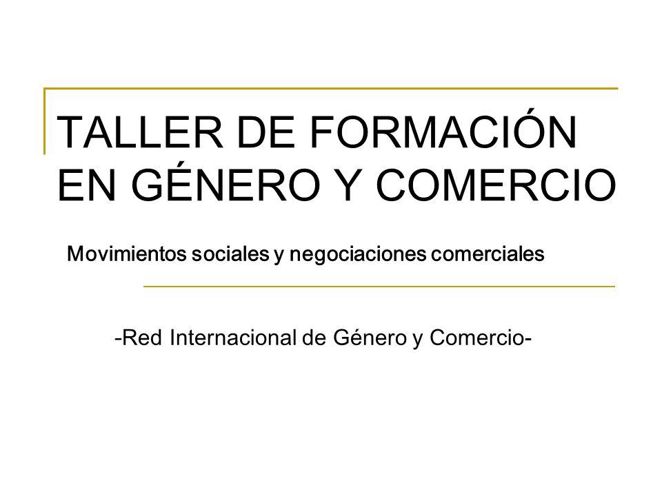 TALLER DE FORMACIÓN EN GÉNERO Y COMERCIO