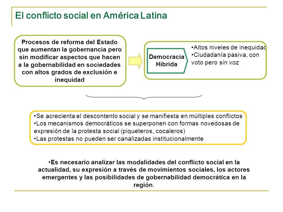 El conflicto social en América Latina