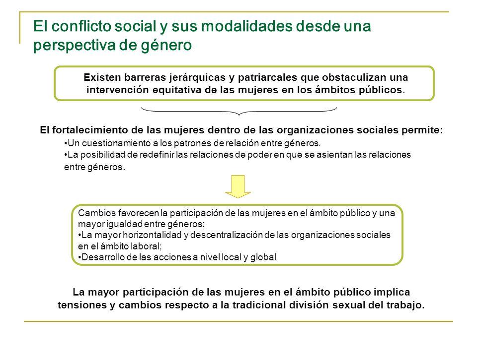 El conflicto social y sus modalidades desde una perspectiva de género