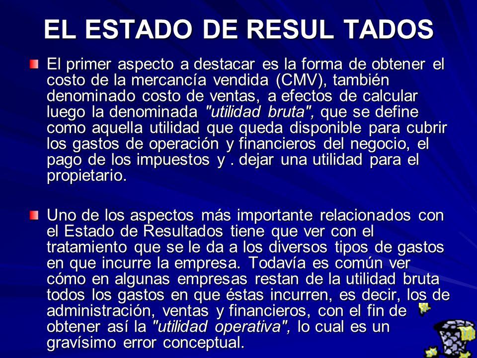 EL ESTADO DE RESUL TADOS