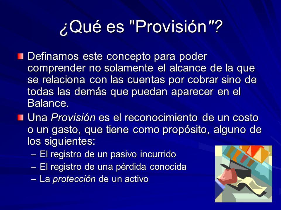 ¿Qué es Provisión