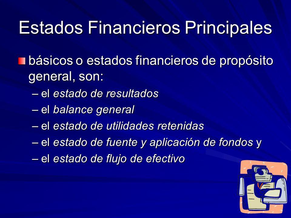 Estados Financieros Principales