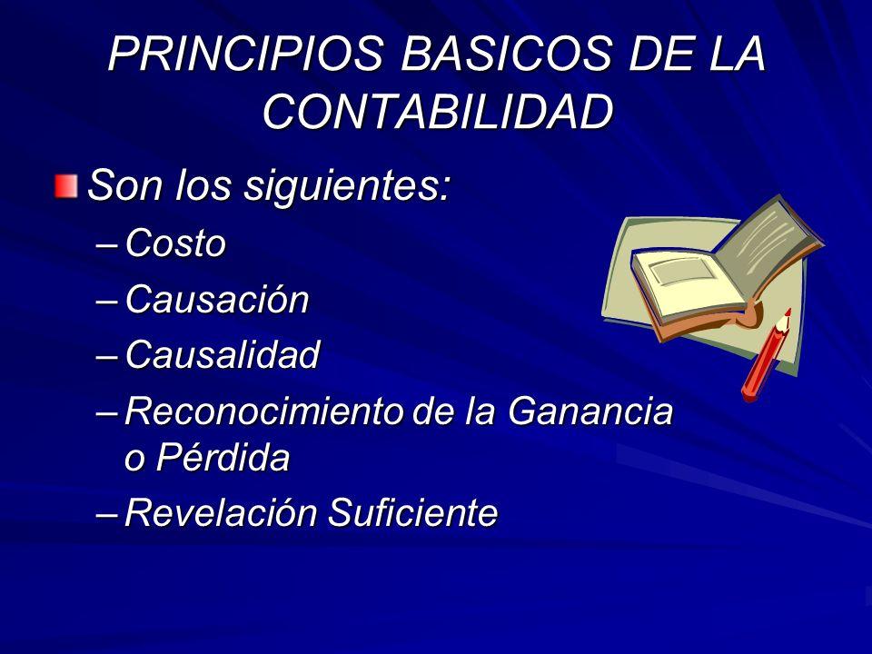PRINCIPIOS BASICOS DE LA CONTABILIDAD